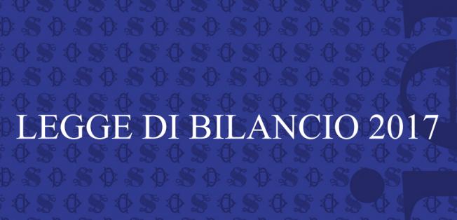 Legge di Bilancio 2017 (legge n. 232/2016), il testo pubblicato in Gazzetta ufficiale